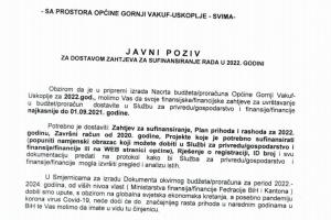 Javni poziv za dostavu zahtjeva za sufinanciranje u 2022. godini