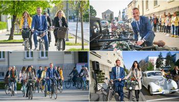 Stanivuković i zaposleni u Gradskoj upravi na posao stigli na biciklima